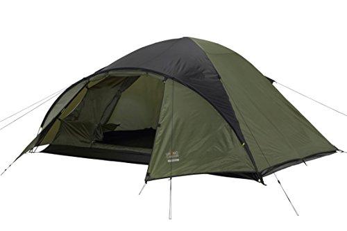 GRAND CANYON Topeka 4 – tienda tipo cúpula (tienda para 4 personas), oliva/negra, 602009