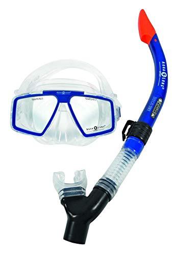 Aqualung Schnorchelset bestehend aus COZUMEL PRO Tauchmaske und DIEGO DRY Schnorchel (blau)