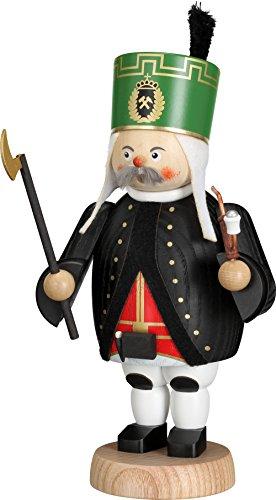 Weihnachtsdekoration Räuchermann Bergmann bunt HxBxT = 21x11x10cm NEU Rauchmann Räucherfigur Räucherkerze Smoker Figur Holz Seiffen Erzgebirge Holz Rauchfigur Dekoration Weihnachten