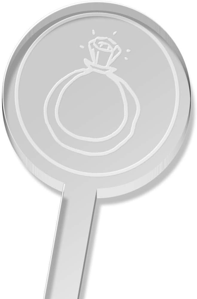 Azeeda 5 x Reservation 'Diamond Ring' Tall Sticks 5 ☆ very popular DS Drink Stirrers Swizzle