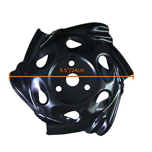 Zhangxiaowei Herramienta de Corte de Acero al Carbono Negro Cabeza segadora Jardín cortadora de césped Cortacéspedes Cabeza Easy Power,Negro