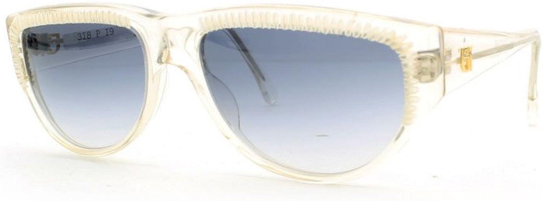 Emmanuelle Khanh 318 P19 Clear and White Authentic Women Vintage Sunglasses