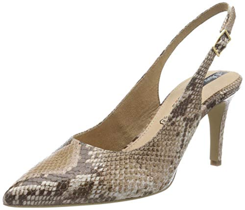 s.Oliver 5-5-29601-24, Zapatos con Tira de Tobillo Mujer, Beige Snake 409, 40 EU