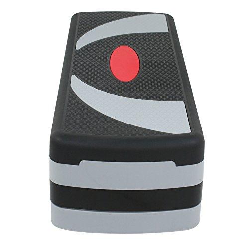 """JungleA 30 Inch Adjustable Aerobic Stepper Workout Exercise Step Platform Riser 3 Levels Adjust 4"""" - 6"""" - 8"""" for Fitness Strength Training"""