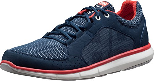 Helly Hansen Damen W Ahiga V3 Hydropower Bootsportschuhe, Blau (Navy/ Off White/ Cayenne/ Light Grey), 39.3 EU