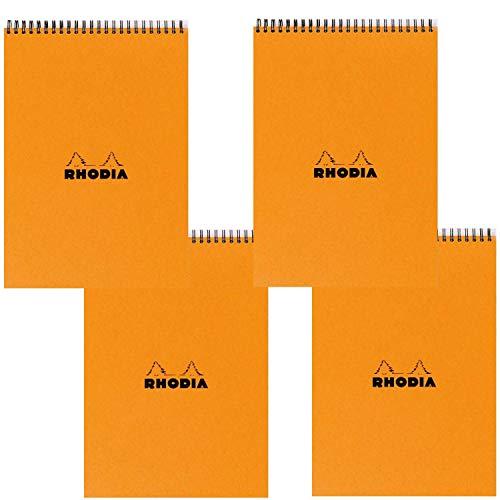 Rhodia Wirebound Pad 6 X 8.25 Orange Grid