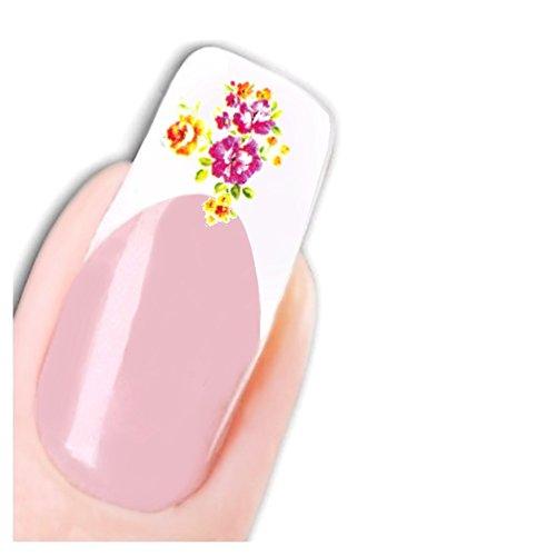 Just Fox – Stickers pour ongles Nail art autocollants pour le Japon Manga Flower papillon water decal