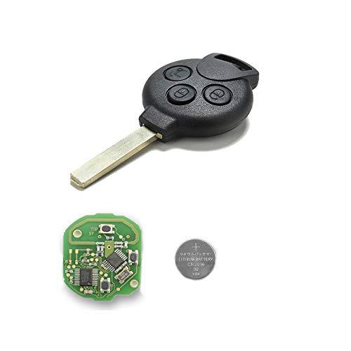1neiSmartech Schlã¼Ssel Autoschlã¼Ssel Fernbedienung 3Tasten Fã¼R Smart Fortwo 450451Forfour Roadster Mit Chip Transponder Messer Und Batterie