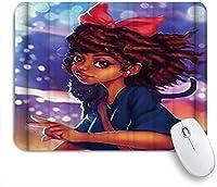 EILANNAマウスパッド アフリカ系アメリカ人の3Dレトロなスタイルのアートプリント ゲーミング オフィス最適 おしゃれ 防水 耐久性が良い 滑り止めゴム底 ゲーミングなど適用 用ノートブックコンピュータマウスマット
