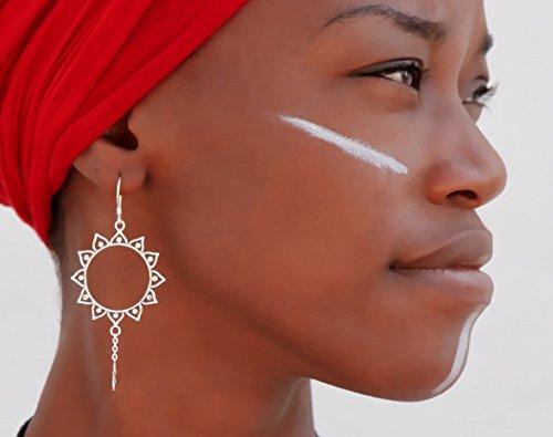 orecchini d'argento - orecchini gitani - orecchini tribali - orecchini etnici - orecchini indiani - orecchini di dichiarazione - grandi orecchini - gioielli d'argento - gioielli tribali