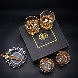 KANARS 4er Set Whisky Gläser, Bleifrei Kristallgläser, Whiskey Glas, 300ml, Schöne Geschenk Box, Hochwertig - 6