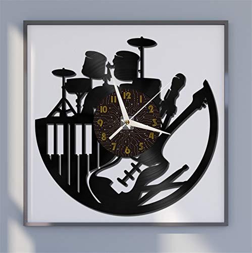 Juego de batería, Banda de Guitarra eléctrica, Reloj de Pared con Disco...