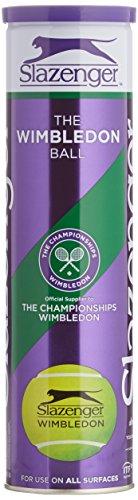 Slazenger Wimbledon 4 Tennisball kann, Gelb, Einheitsgrö�e