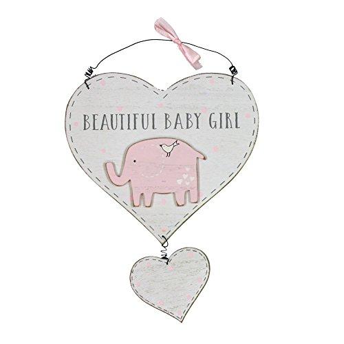 Petit Cheri Beautiful Baby Girl Hanging Plaque New Baby Gift Idea