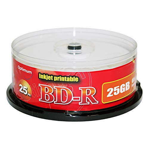 Optimum BD-R 6X 25GB White Inkjet Printable 25pk Cake Box