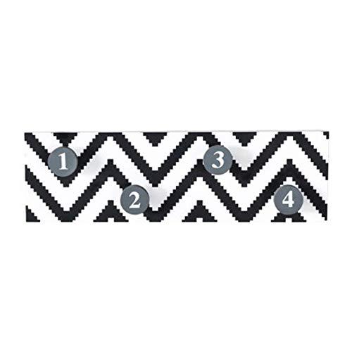 WAJI Digitale haken, aan de muur gemonteerde planken, zebra splint sleutel veranda opslag rek.