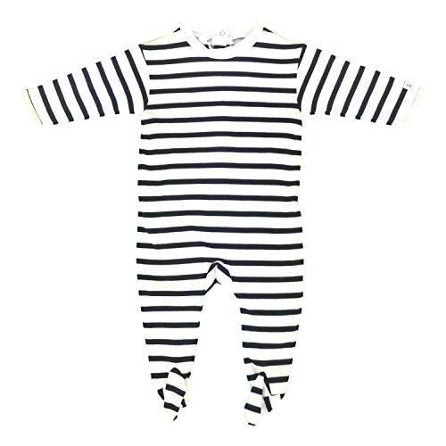 Pijamas de Rayas para bebés - 12 Meses, Blanco BLU