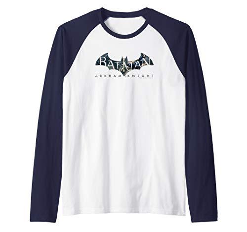 Batman: Arkham Knight Descending Logo Raglan Baseball Tee