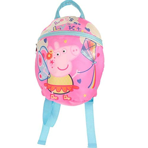 Peppa Pig Festival of Fun Go Fly Kite Pink Backpack with Reins