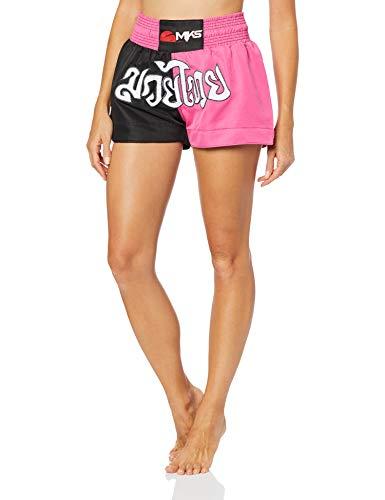 """Shorts de """"Muay Thai"""", Tamanho P, MKS, Preto e Pink, Nacional"""