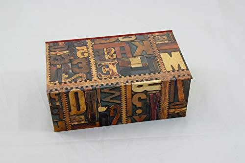 individeulles Kästchen für Stifte, Schrift, Buchstaben, Stiftekästchen21 x 12 cm x 8,5 cm