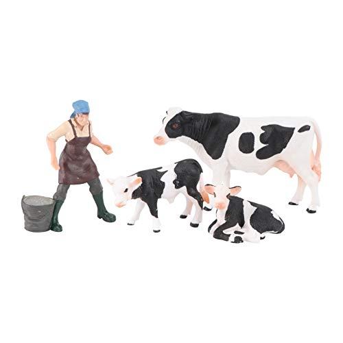 SOLUSTRE Farm World Bull Cowboys Estatuilla Educativa Miniaturas Juguetes de Granja para Niños de Edades Tempranas Juguetes Educativos Regalo
