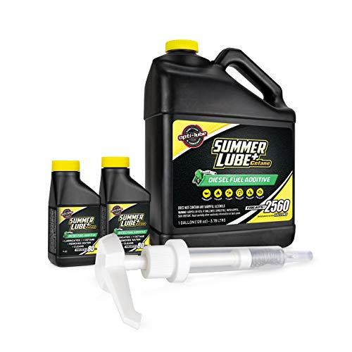 Opti-Lube Summer+ Cetane Formula Diesel Fuel Additive: 1 Gallon with Accessories (HDPE Plastic Hand...