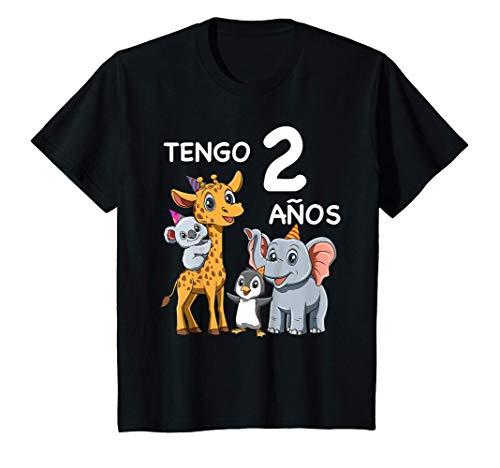 Niños 2 Cumpleaños Zoo - Regalo de Dos Años Para Niños y Niñas Camiseta