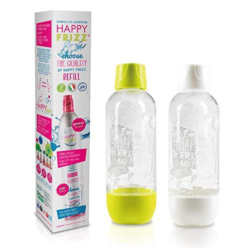 Happy Frizz Special Pack - 2 Bottiglie + bombola addizionale di CO2 (Accessori compatibili con Altri gasatori)