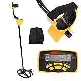 Detector de Metales Profesional, Detector de Metales Resistente al Agua MD6350, Equipo de Detección de oro Plateado Subterráneo Seleccionable Individualmente, con Capacidad de Reconocimiento de Voz