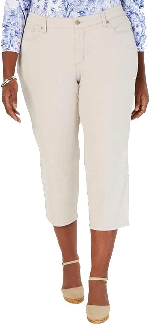 Charter Club Womens Plus Size Capri Pants, Creme Stone, 24W