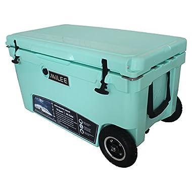MILEE--Heavy duty Wheeled Cooler 70QT (Sea Foam Green)