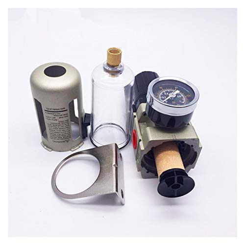 youyu6-2o521 G1 AW3000-02/4 AW3000-03 G3 / 8 neumático del compresor de Aire de presión del Filtro Válvula Reductora de válvula de regulación (Color : AW3000 02, Specification : Copper Filter)