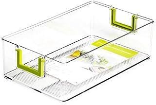 SHYPT Nouveau Plastique Transparent Réfrigérateur Nourriture Boisson Organisateur Bins Fruits Boîte de Rangement avec poig...