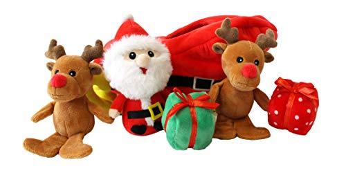 Santa Sleigh Find a Toy Christmas Dog Toy