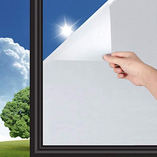 1 Stück Fenster Blickdicht Milchglasfoli Fensterfolie Selbsthaftend Sichtschutzfolie