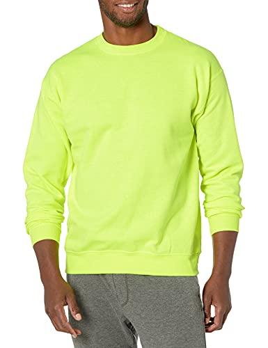 Hanes Camiseta de chándal (Paquete de 3) para Hombre, Verde de Seguridad., L