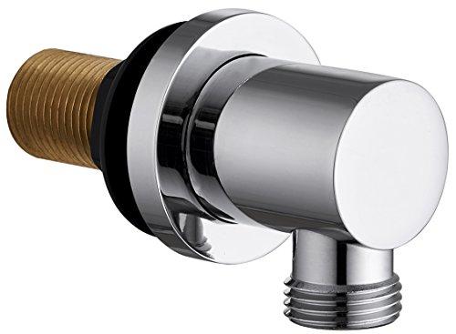 Keenware KSA-003 - Codo de pared para ducha, cromado