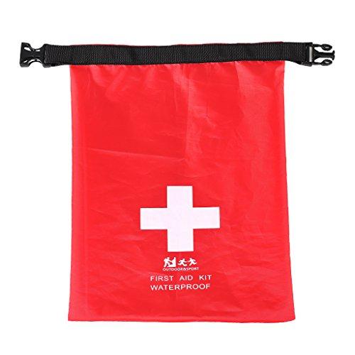 Sharplace Praktische kleine wasserdichte Tasche für das notwendigsten Erste Hilfe Equipment, Ideal für Motorradtouren, Outdoor Sports, Radsport oder Camping