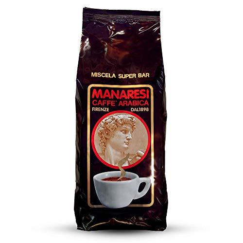 Il Caffè Manaresi Il Caffè Manaresi Caffè in Grani Super Bar (Brown), Espresso Italiano, 3 Kg