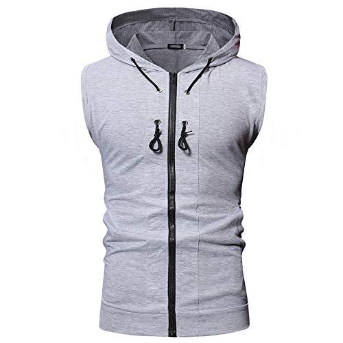 JPDD Men Casual Sleeveless Hoodie Sports Lightweight Zip Up Hoodie Vest Tank Tops Hooded Sleeveless Sports Vest Men's Pullover Hooded Cardigan Sports Running Hoodies Sweater Top