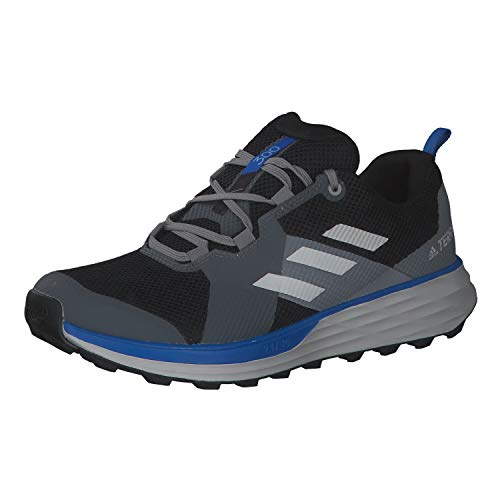 adidas Terrex Two, Zapatillas Deportivas Hombre, Core Black/Grey One F17/GLORY Blue, 45 1/3 EU