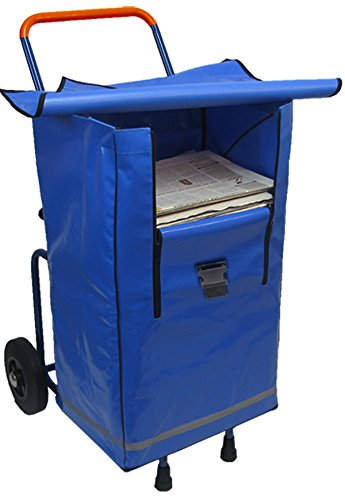 Klappbarer und teilbarer Zeitungsroller Zeitungswagen Multi2 mit Einer Zeitungstasche BigBag, Zustellerbedarf