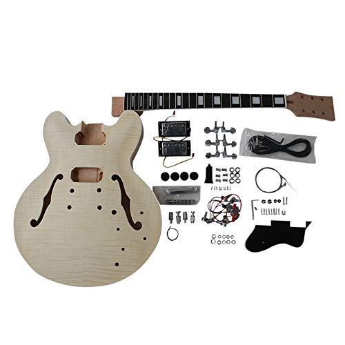 GD230 Mahagoni Semi hohl Körper E-Gitarre Selbstbau-Kit für Student & Gitarrenbauer zeigt groß Gitarre Vollmassiv Mahagoni / Linde mit Ahorn Furnier