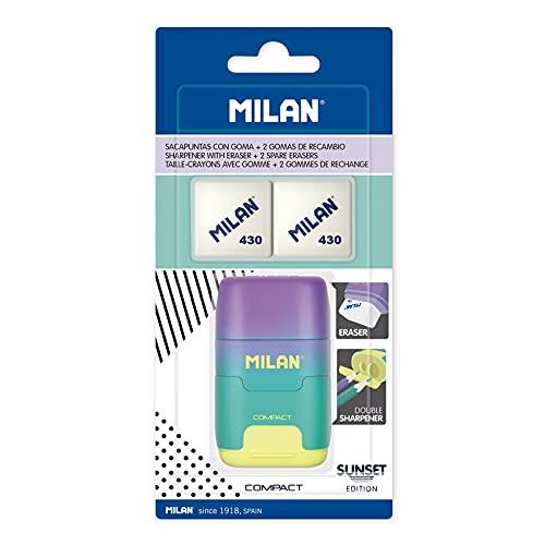 MILAN Blíster afilaborra COMPACT Sunset turquesa + 2 gomas de recambio, BYM10454