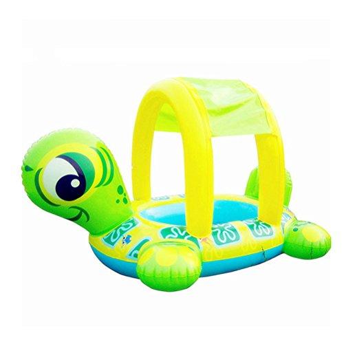 TOYMYTOY Kinder Baby Aufblasbare Schwimmsitz Schwimmhilfen Schwimmring mit Sonnenschutz