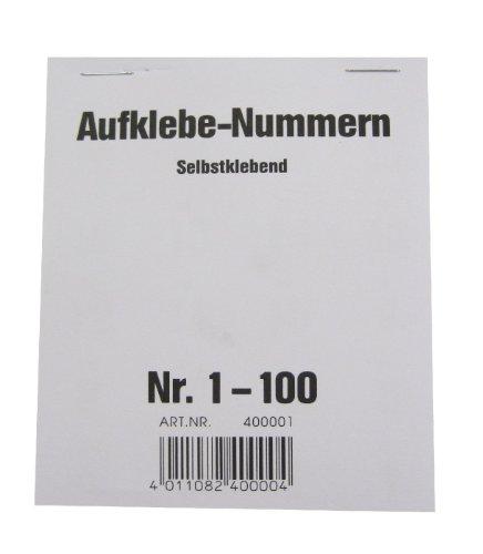 Wolf & Appenzeller 400001 - Gewinnaufklebe-Nummern 1-100, selbstklebend