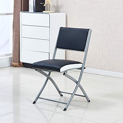 Lxynb Premium Portable Klappstuhl,Kompakt Freizeit Stuhl,U-Leder und Metall gepolstert Gepolsterter Sitz für Komfort-A 40 * 42 * 83cm(16 * 17 * 33in)
