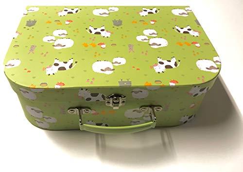 Sass and Belle koffer/kinderkoffer/poppenkoffer/opbergdoos. Kartonnen koffer, 3 verschillende maten. L/Groß Farmyard Friends