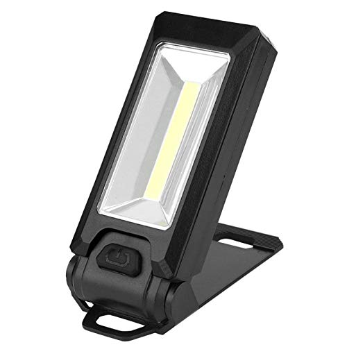 SALUTUYA 3W Magnetismo Luz de Trabajo LED COB de Alto Brillo Lámpara de Trabajo portátil Luz de Trabajo magnética Luz de Trabajo LED Duradera para Caza, Transporte Diario, Patrulla,((Black))